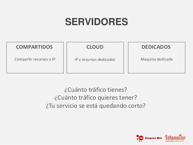 Compartir recursos e IP COMPARTIDOS IP y recursos dedicados CLOUD Maquina dedicada DEDICADOS SERVIDORES ¿Cuánto tráfico ti...