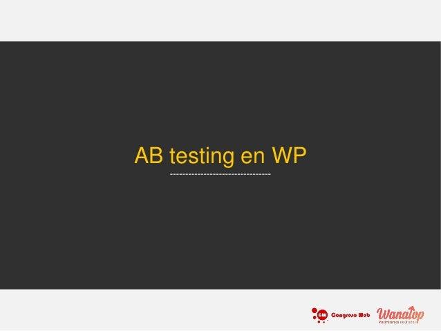 AB testing en WP