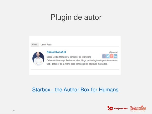 Plugin de autor 45 Click Here Change Image Click Here Change Image Starbox - the Author Box for Humans