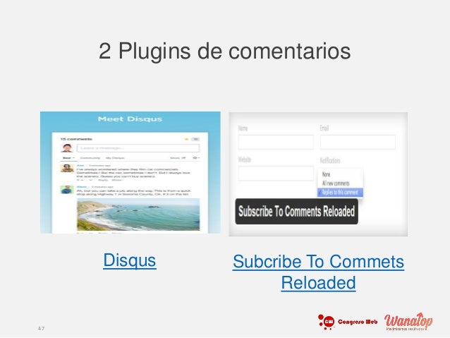 2 Plugins de comentarios 47 Disqus Subcribe To Commets Reloaded