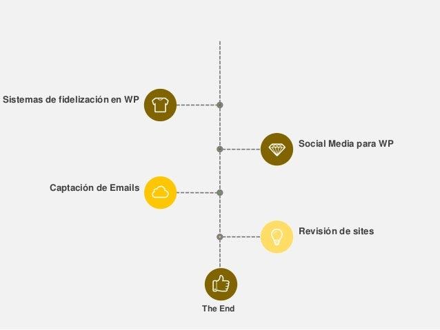 Sistemas de fidelización en WP Captación de Emails Social Media para WP Revisión de sites The End