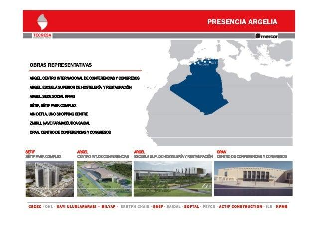 PRESENCIA ARGELIA  OBRAS REPRESENTATIVAS ARGEL, CENTRO INTERNACIONAL DE CONFERENCIAS Y CONGRESOS ARGEL, ARGEL ESCUELA SUPE...