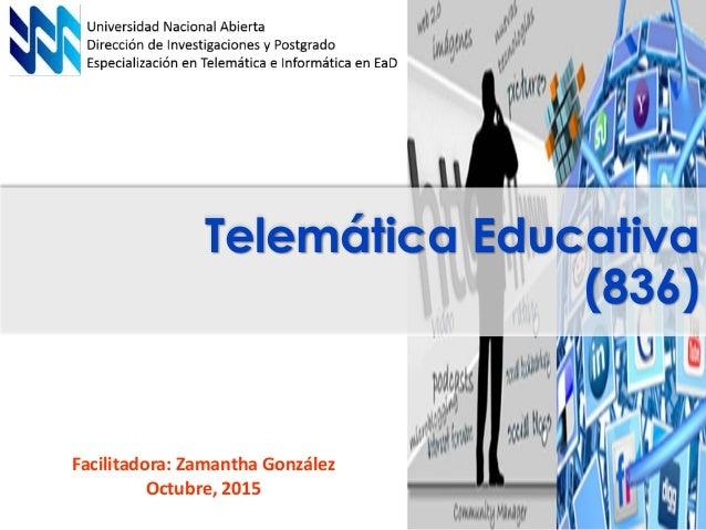 Presentacion telemática educativa Slide 2
