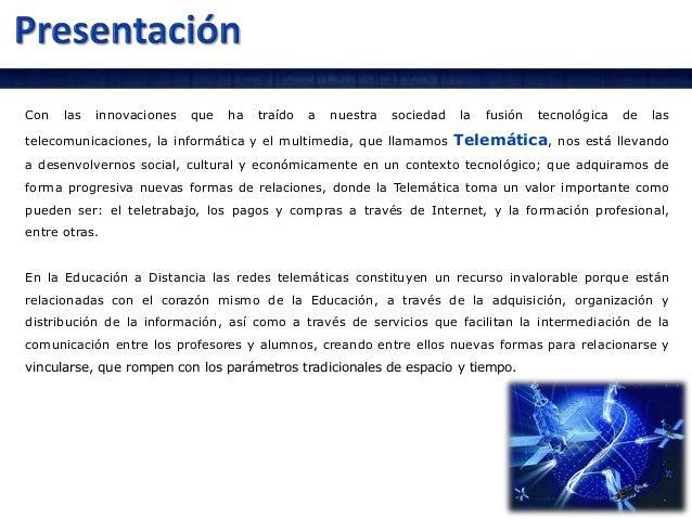 Presentacion telemática educativa Slide 3