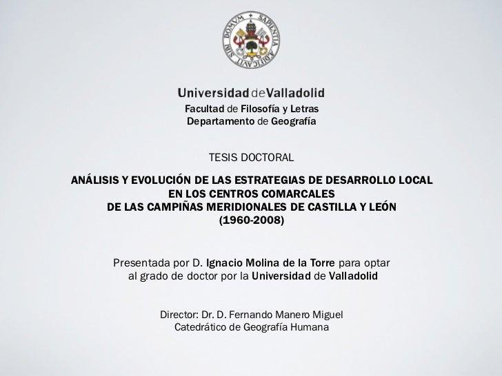 Facultad de Filosofía y Letras                    Departamento de Geografía                         TESIS DOCTORALANÁLISIS...
