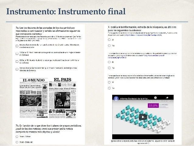 Instrumento: Instrumento final