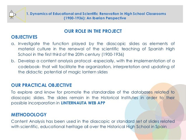 1. Dynamics of Educational and Scientific Renovation in High School Classrooms (1900-1936): An Iberian Perspective OUR ROL...