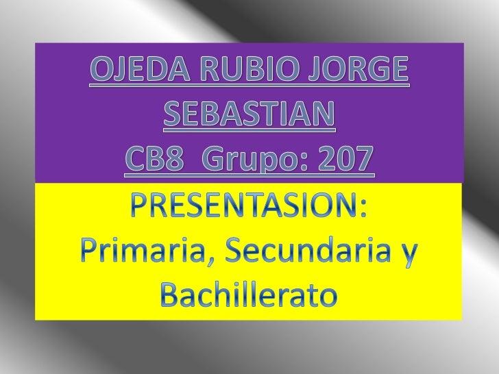 1.   Primaria2.   Secundaria3.   Bachillerato4.   Conclusión