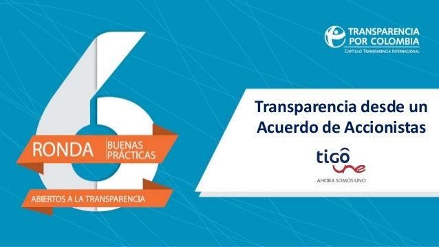 Transparencia desde un Acuerdo de Accionistas
