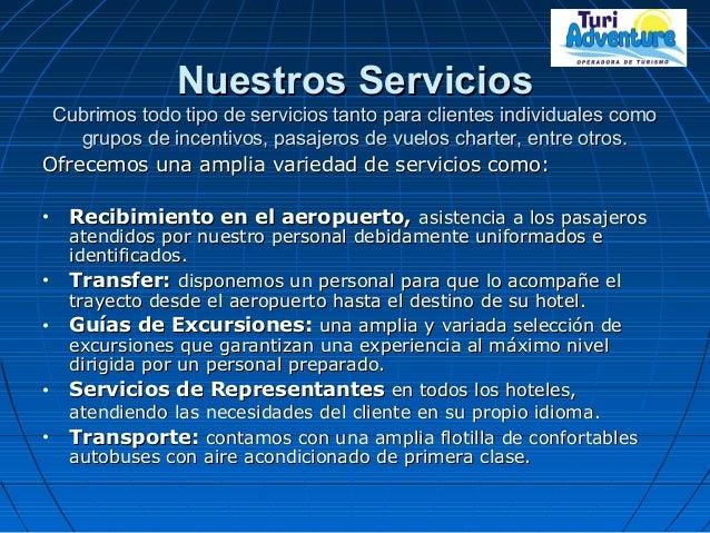 Nuestros ServiciosNuestros Servicios Cubrimos todo tipo de servicios tanto para clientes individuales comoCubrimos todo ti...