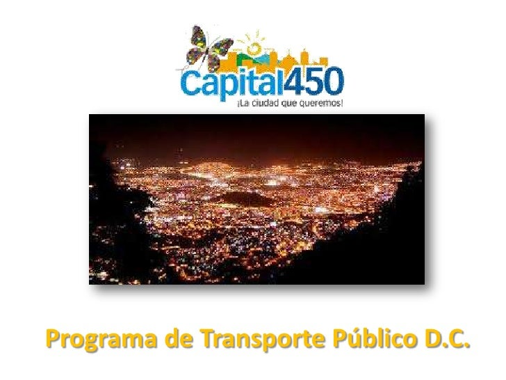 Programa de Transporte Público D.C.<br />