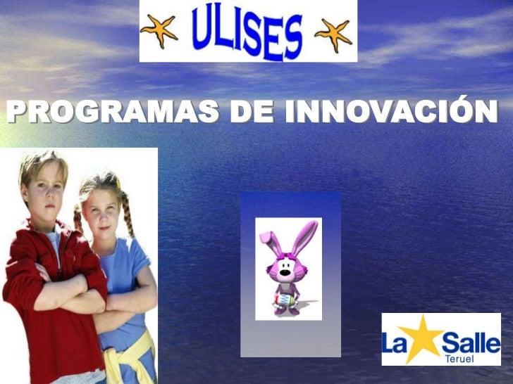 PROGRAMAS DE INNOVACIÓN