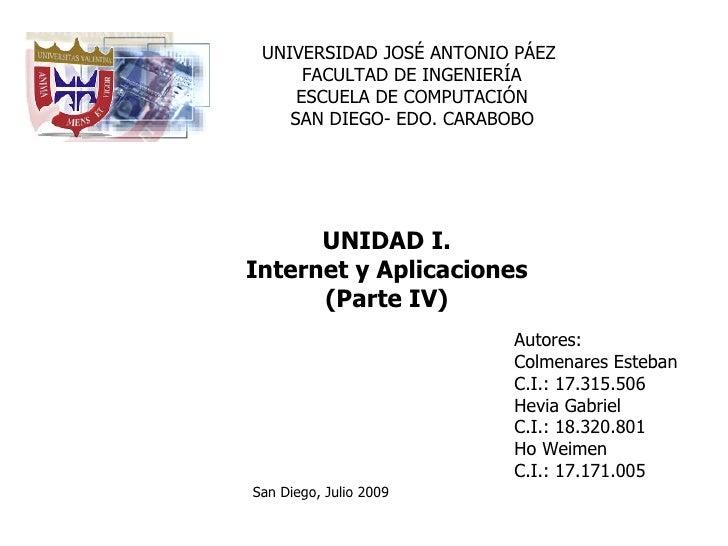 UNIVERSIDAD JOSÉ ANTONIO PÁEZ       FACULTAD DE INGENIERÍA      ESCUELA DE COMPUTACIÓN     SAN DIEGO- EDO. CARABOBO       ...