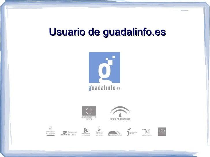 Usuario de guadalinfo.es