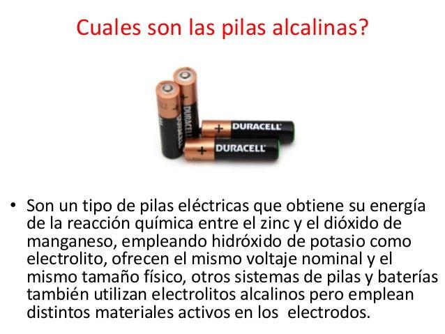 Pilas - Tipos de pilas alcalinas ...
