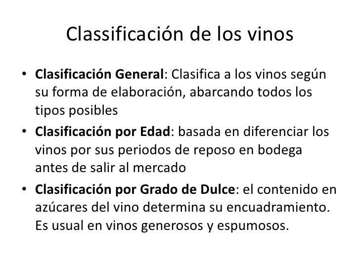 """Vocabulario básico</li></li></ul><li>Definición de """"vino""""<br />Es la bebida obtenida de la fermentación alcohólica, total ..."""