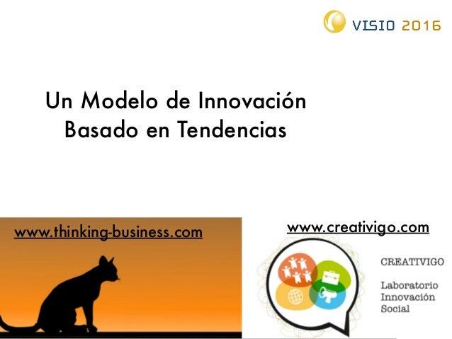 Un Modelo de Innovación Basado en Tendencias www.thinking-business.com www.creativigo.com