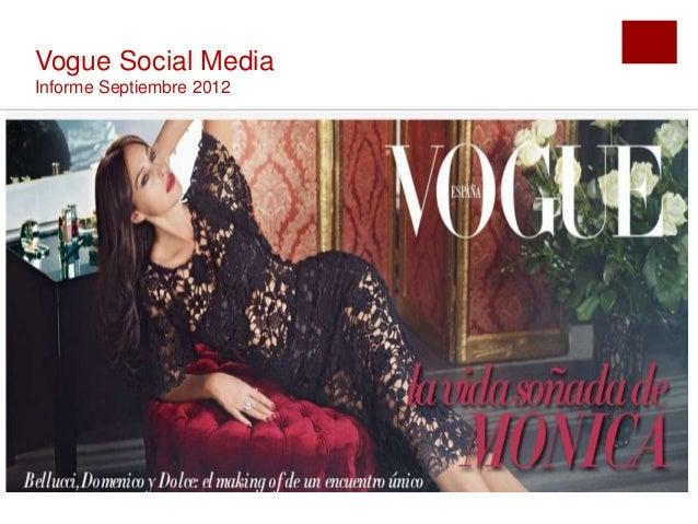 Vogue Social MediaInforme Septiembre 2012