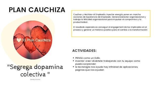 PLAN CAUCHIZA ACTIVIDADES: Cautivar y Hechizar al Empleado. Inyectar energía, poner en marcha acciones de Experiencia de E...