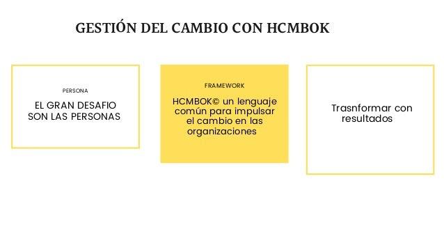 PERSONA EL GRAN DESAFIO SON LAS PERSONAS GESTIÓN DEL CAMBIO CON HCMBOK FRAMEWORK HCMBOK© un lenguaje común para impulsar e...