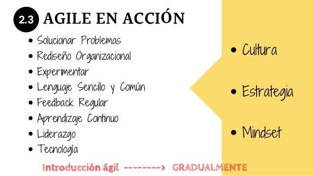 2.3 Solucionar Problemas Rediseño Organizacional Experimentar Lenguaje Sencillo y Común Feedback Regular Aprendizaje Conti...