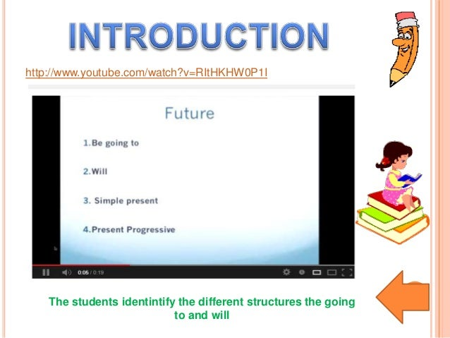 The students identintify the different structures the goingto and willhttp://www.youtube.com/watch?v=RItHKHW0P1I