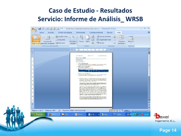 Caso de Estudio - Resultados Servicio: Informe de Análisis_ WRSB                                           Page 14