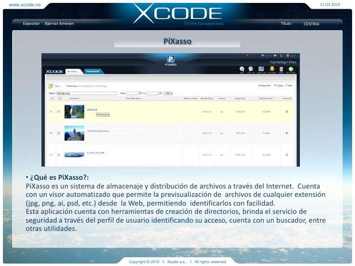 Presentacion Xcode - Casos Exito y Productos