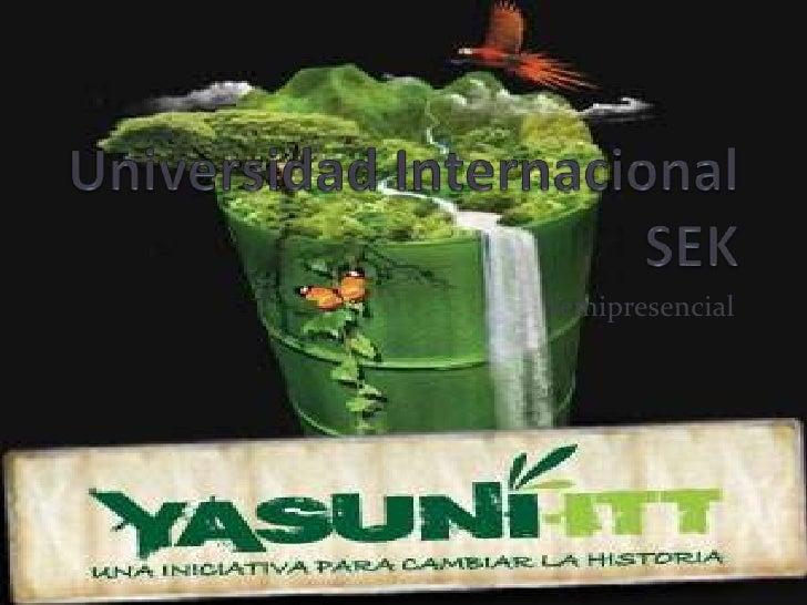 Universidad Internacional SEK<br />Semipresencial <br />