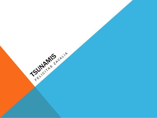 Los tsunamis habitualmente se componen de una serie de olas, llamadas tren de olas, por lo que su fuerza destructiva puede...