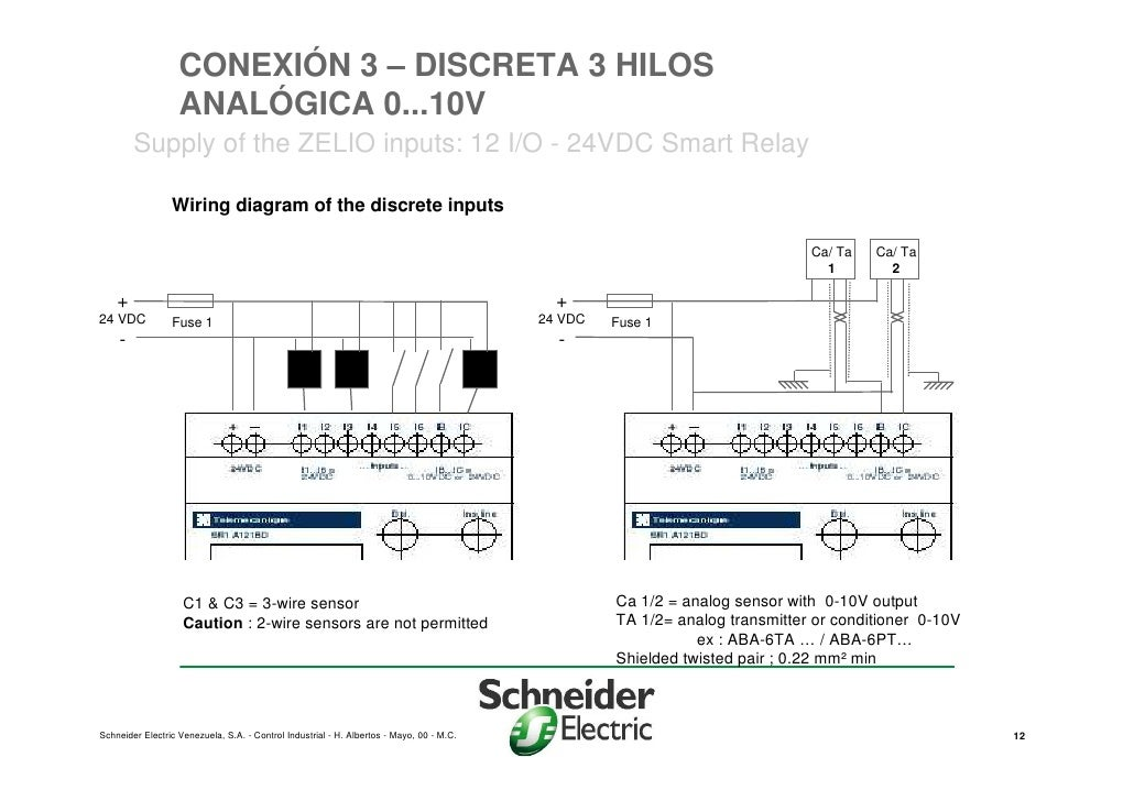zelio smart relay wiring diagram presentacion zelio