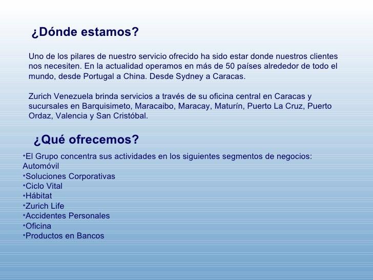 Presentaci n corporativa de zurich seguros for Oficina zurich valencia