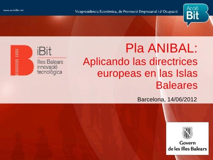 Pla ANIBAL:Aplicando las directrices   europeas en las Islas               Baleares           Barcelona, 14/06/2012