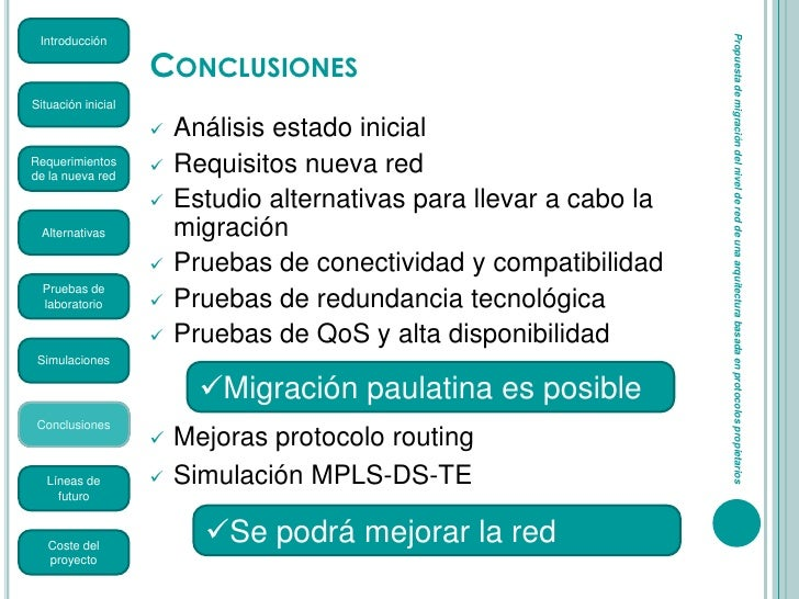 Propuesta de migraci n del nivel de red de una for Requisitos para estudiar arquitectura