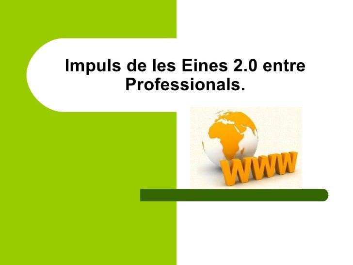 Impuls de les Eines 2.0 entre Professionals.