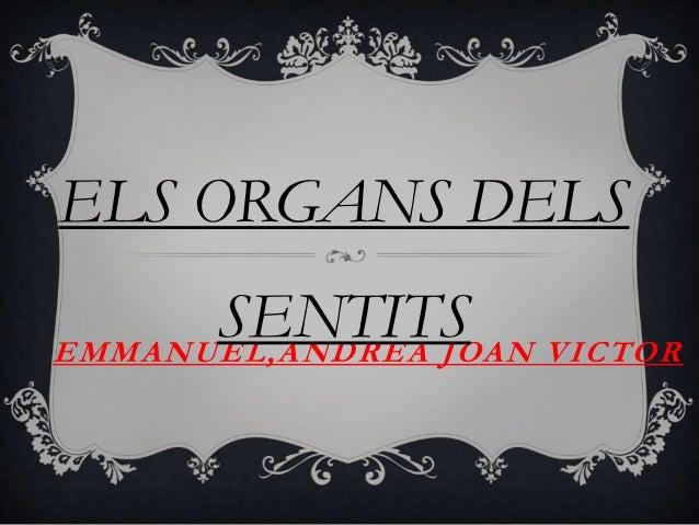 ELS ORGANS DELS      SENTITS VICTOREMMANUEL,ANDREA JOAN