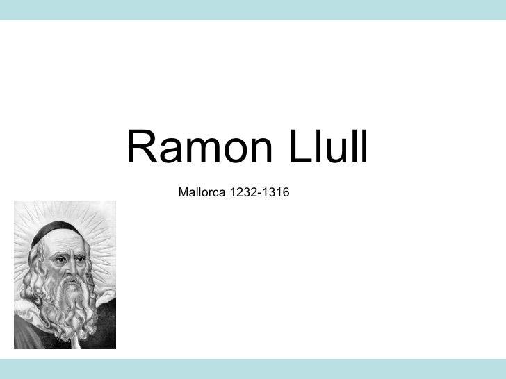 Ramon Llull Mallorca 1232-1316