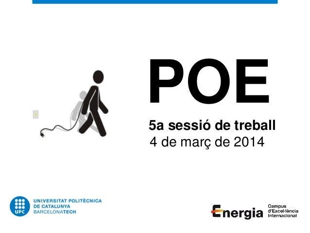 POE5a sessió de treball 4 de març de 2014
