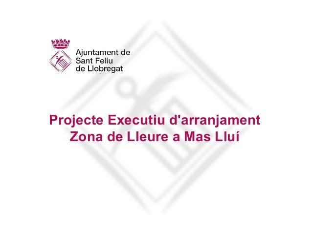 Projecte Executiu d'arranjament Zona de Lleure a Mas Lluí