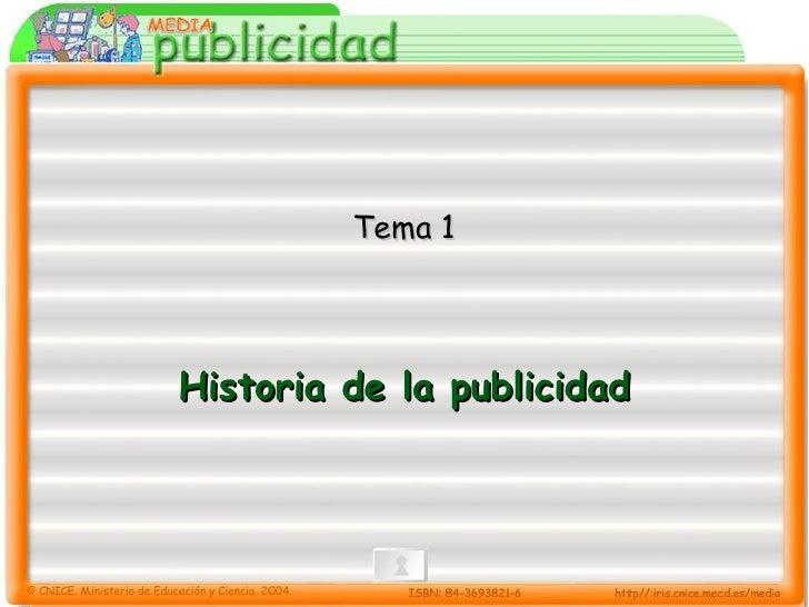 Historia de la publicidad Tema 1