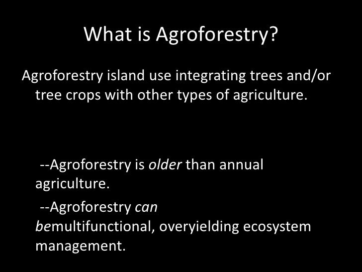 Agroforestry in the Northeast Slide 2