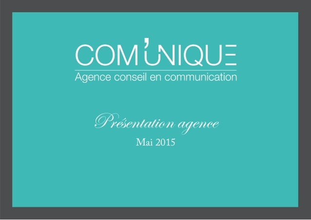 Présentation agence Mai 2015