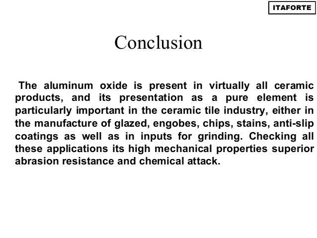 Calcined alumina in ceramic tiles
