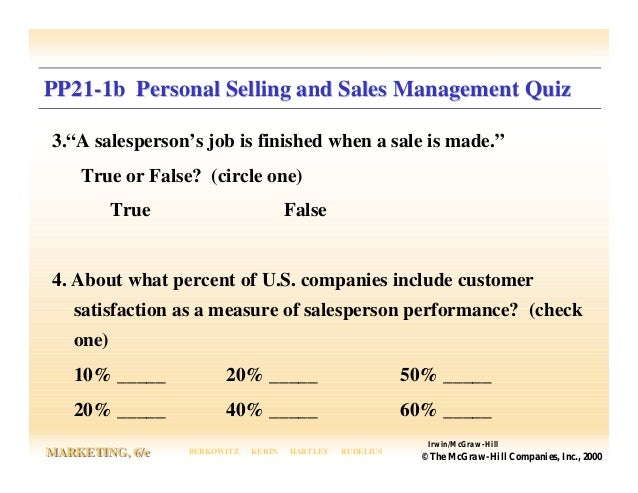 personal selling and sales management Direct marketing, and personal selling  predicted greater emphasis being placed on sales management and personal selling in their organization than on.
