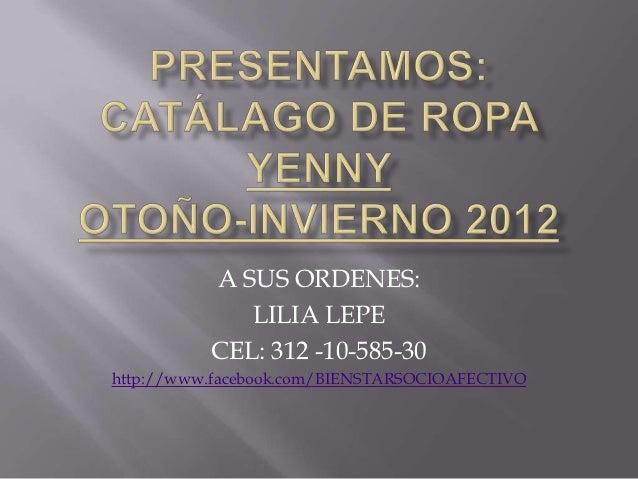 A SUS ORDENES:             LILIA LEPE          CEL: 312 -10-585-30http://www.facebook.com/BIENSTARSOCIOAFECTIVO