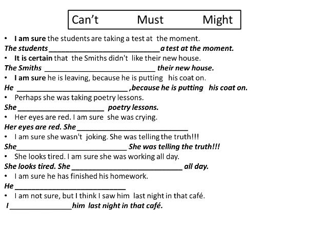 Present and past infinitive exercise for ESL students Slide 2