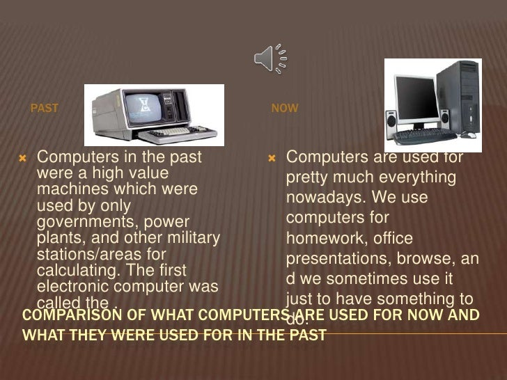 A comparison of technology in the past and now