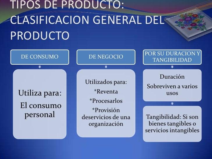 clasificacion del producto resumen 2 728