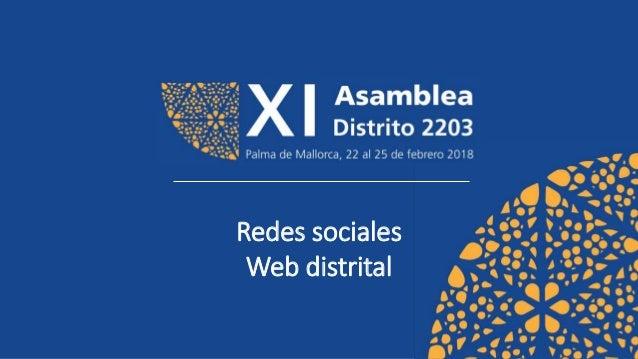 Redes sociales Web distrital