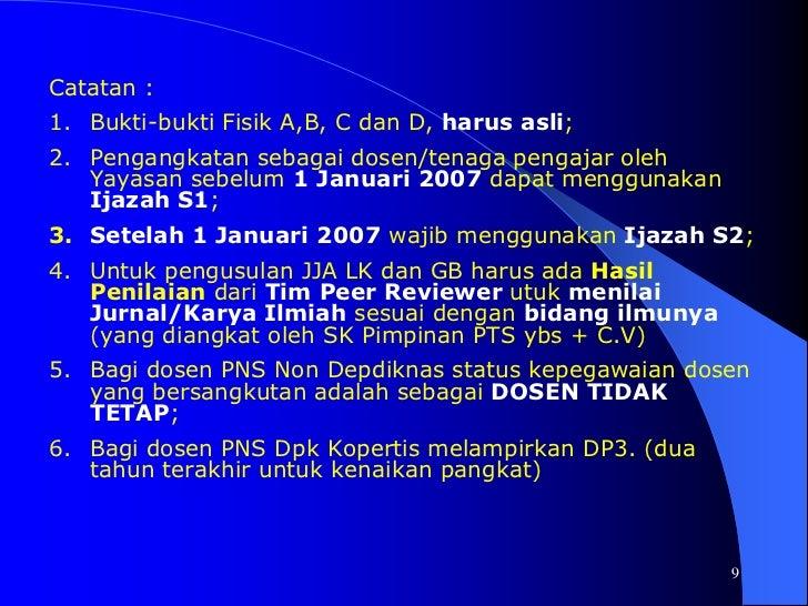S315</li></li></ul><li>6<br />JABATAN/PANGKAT AKADEMIK DOSENSK. MENKOWASBANGPANNO. 38 TAHUN 1999<br />A. ASISTEN AHLI :<...